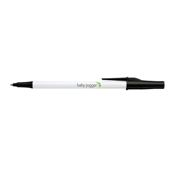 Paper Mate Write Bros/White Barrel Stick Pen w/ 11 Trim Color Choices